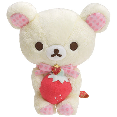 San-X Rilakkuma Strawberry Party Korilakkuma Plush Doll