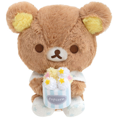 San-X Rilakkuma Pajama Party Rilakkuma Popcorn Plush Doll Limited ver.