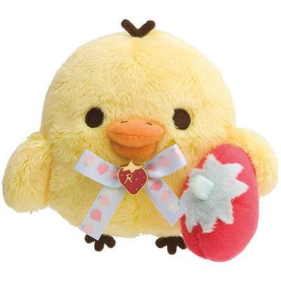 San-X Rilakkuma Strawberry Party Kiiroitori Plush Doll