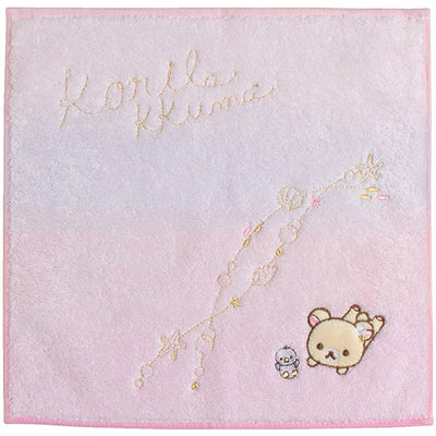 San-X Korilakkuma Vacation Mini Towel (Pink)