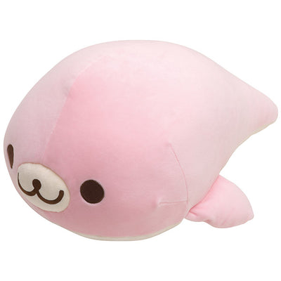 San-X MAMEGOMA COLLECTION in Aquarium Sakuragoma Super Mochi Mochi Plush Doll LL