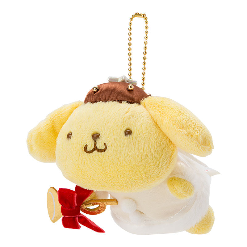 Sanrio Pom Pom Purin Angel Christmas 2018 Plush Doll Keychain