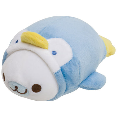 San-X MAMEGOMA COLLECTION in Aquarium Shirogoma Penguin Super Mochi Mochi Plush Doll