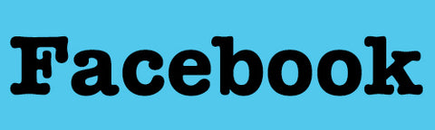 Facebook link button for Pixie Drew online greetings cards and gift wrapping paper