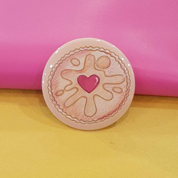 Jammy dodger badge