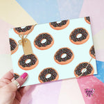 Chocolate doughnut wrapping paper, chocolate donut Gift wrap.