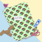 Happy fathers day wrapping paper,  fathers day gift wrap