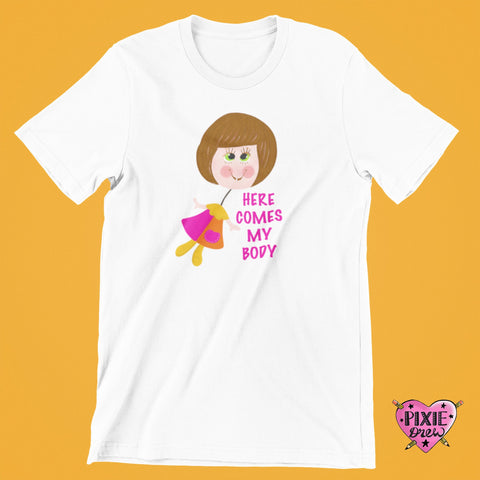 Silly talk t-shirt, talk up doll tee, here comes my body, nostalgic 80s toy t shirt