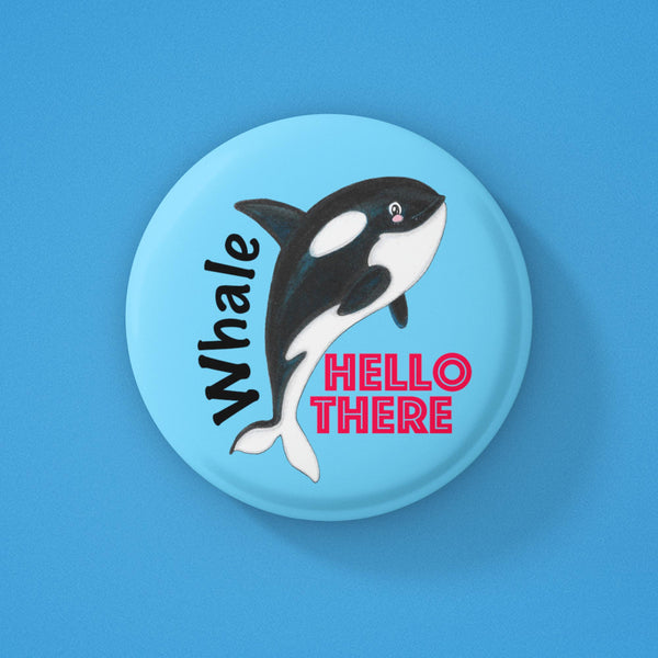 Whale hello there badge