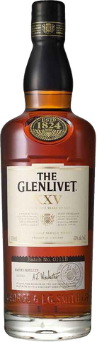 The Glenlivet Scotch Single Malt XXV