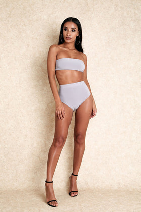 Mixed Messages Grey Stretch Panty Co Ord set