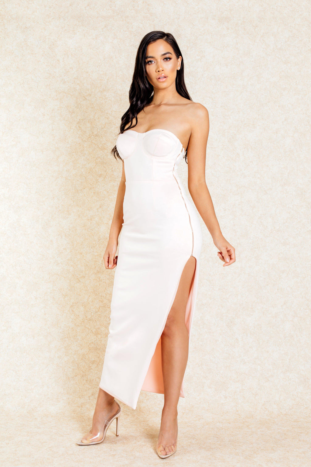 Roya Blush Zip Side Maxi Dress