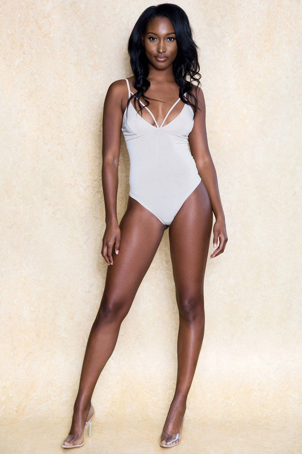 Leandra Nude Thong Stretch Bodysuit