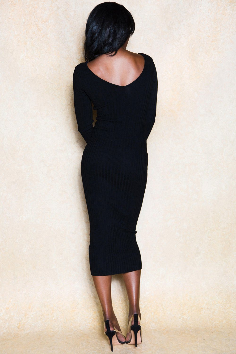 Make it Up to Me Single Strap Stretch Bodycon Midi Dress