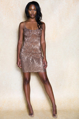 Ivy Bodycon Sparkle Glitter Midi Dress - Klasha