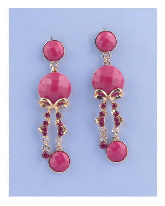 Faux stone chandelier earrings - Creole Couture Boutique