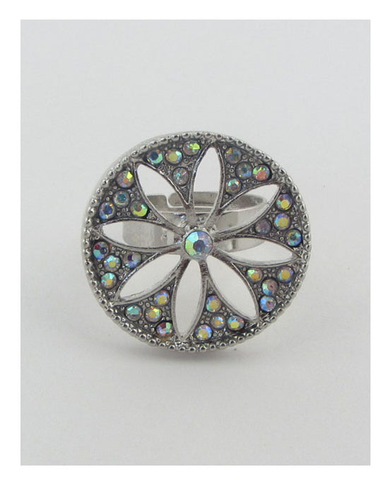 Adjustable cut out flower ring - Creole Couture Boutique