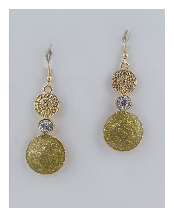 Circle drop earrings - Creole Couture Boutique
