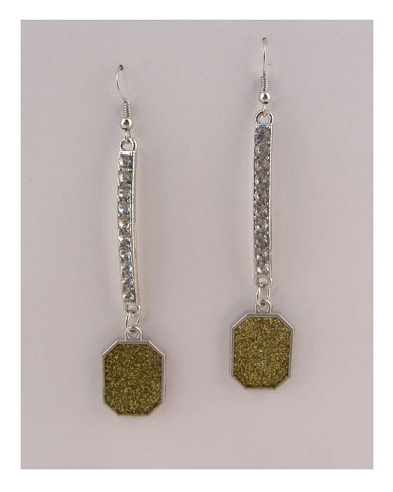 Rhinestone drop earrings - Creole Couture Boutique