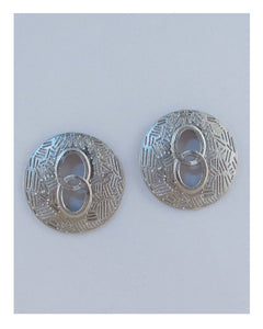 Circle cut out earrings - Creole Couture Boutique
