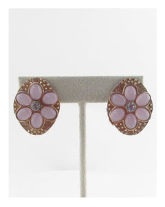 Faux stone Clip on earrings - Creole Couture Boutique