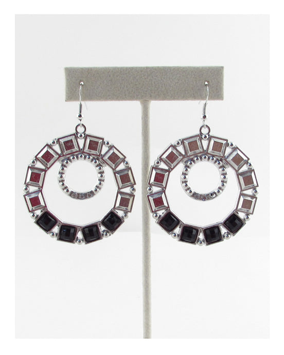 Crop circle earring - Creole Couture Boutique