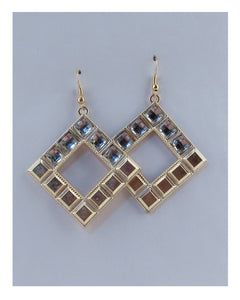 Drop rhombus earring - Creole Couture Boutique