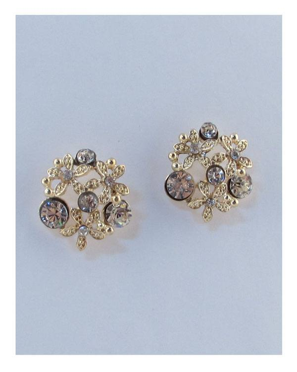 Multi rhinestone stud earrings - Creole Couture Boutique