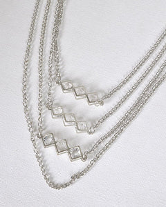 Multi-Layer Metal Embellished Necklace - Creole Couture Boutique