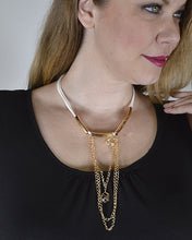 Crystal and Rolo Chain Embellished Necklace - Creole Couture Boutique