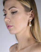 Floral Design Pearl Accent Drop Earrings - Creole Couture Boutique