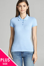Ladies fashion  classic pique polo top - Creole Couture Boutique