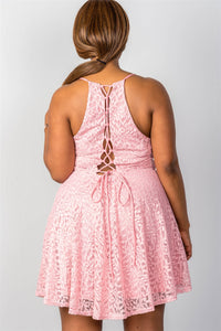 Ladies fashion  lace up back dress - Creole Couture Boutique