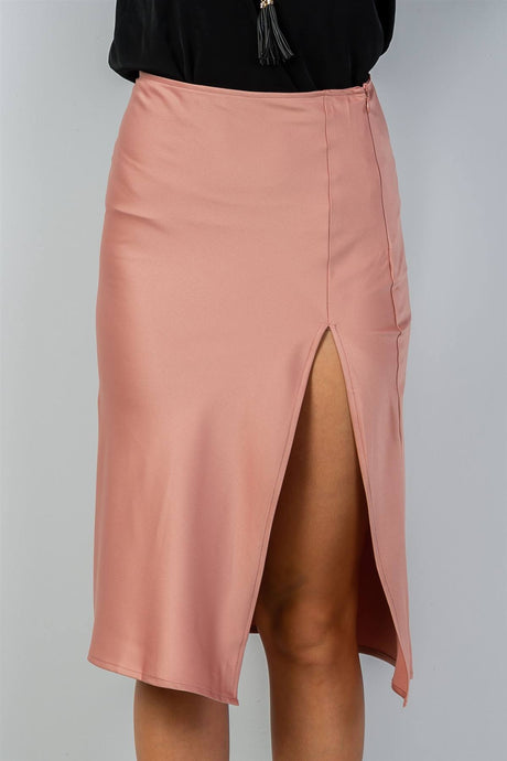 Ladies fashion side slit midi skirt - Creole Couture Boutique