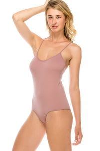 Ladies fashion criss cross back seamless bodysuit-id.CC35603 - Creole Couture Boutique