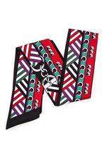 Multi functional mix print skinny lonf scarf - Creole Couture Boutique