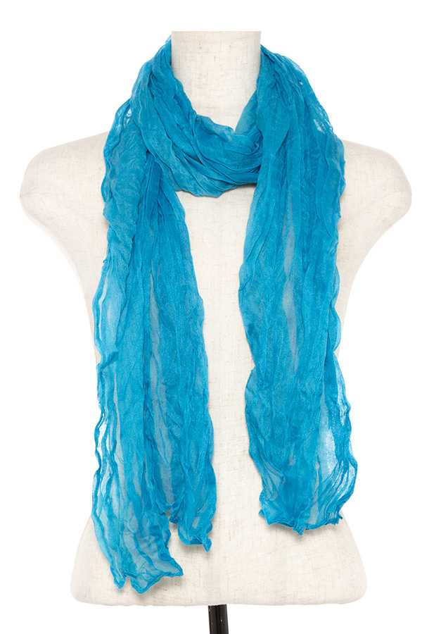 Wrinkled oblong scarf - Creole Couture Boutique