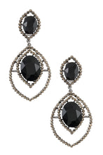 Rhinestone and crystal clip on earring - Creole Couture Boutique