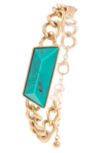 Faceted gemstone chain bracelet - Creole Couture Boutique