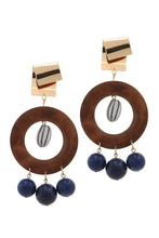Cut out circle bead drop earring - Creole Couture Boutique