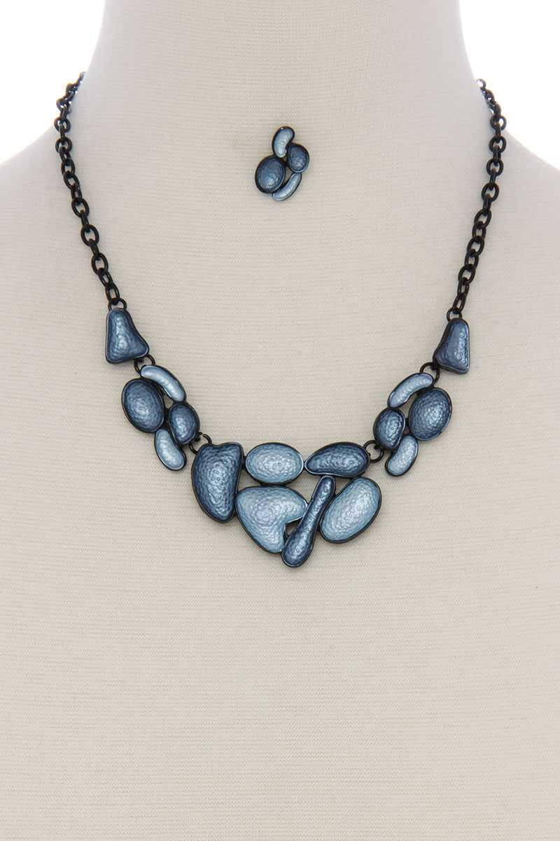 Geometric shape short necklace - Creole Couture Boutique