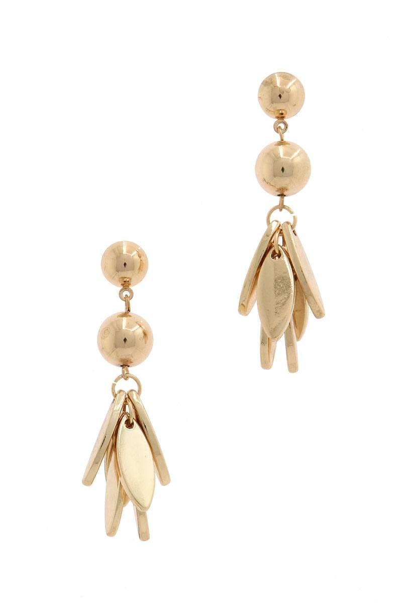 Metal ball dangle drop earring - Creole Couture Boutique