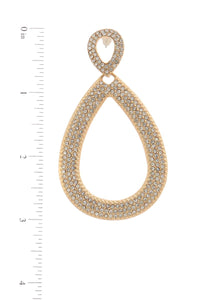Double tear drop rhinestone shape post drop earring - Creole Couture Boutique