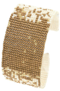 Seed bead two tone bracelet - Creole Couture Boutique