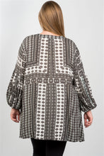 Ladies fashion  boho swing mix print tunic top - Creole Couture Boutique
