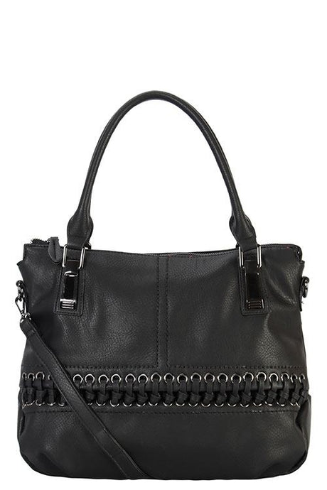 Designer braided accent tote bag - Creole Couture Boutique
