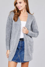 Ladies fashion  long sleeve open front w/pocket tunic sweater cardigan - Creole Couture Boutique