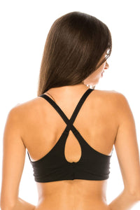 Lightly lined racerback coverage bra - Creole Couture Boutique