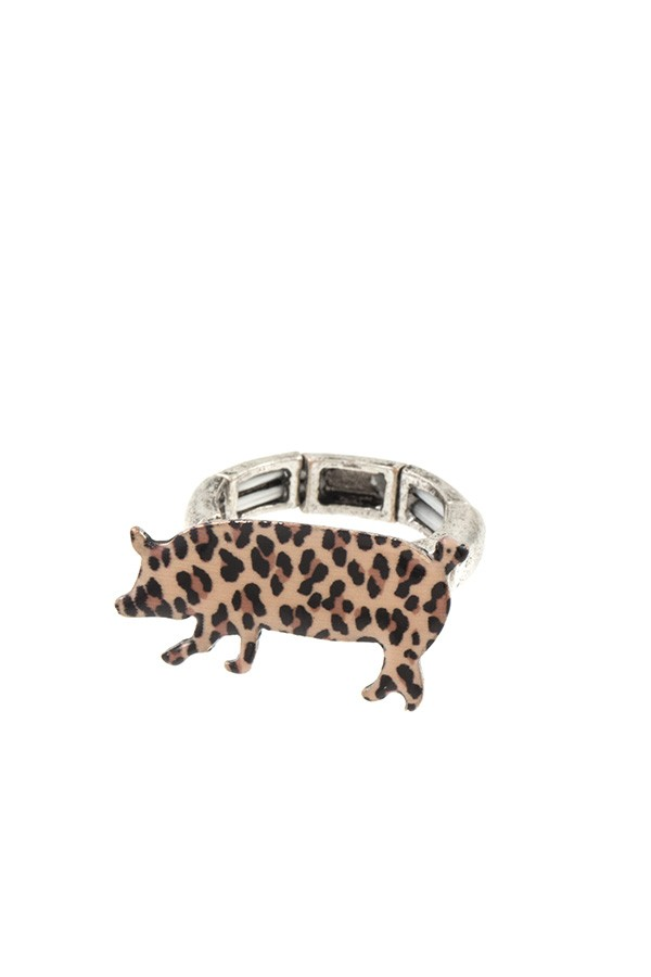 Animal print pig ring - Creole Couture Boutique