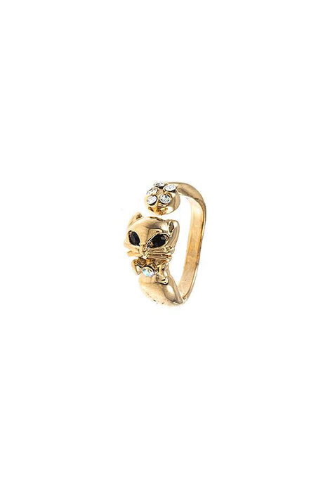 Kitty Cat Mid Ring - Creole Couture Boutique